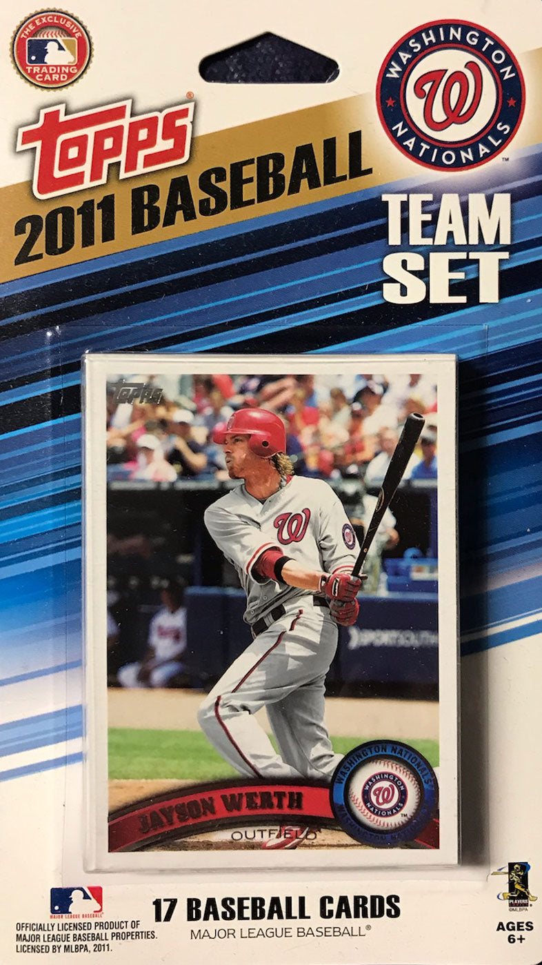 Washington Nationals 2011 Topps Factory Sealed 17 Card Team Set