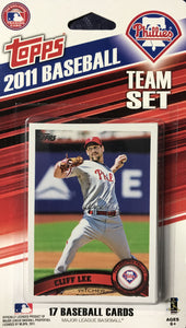Philadelphia Phillies 2011 Topps Factory Sealed 17 Card Team Set