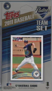 San Diego Padres  2011 Topps Factory Sealed 17 Card Team Set