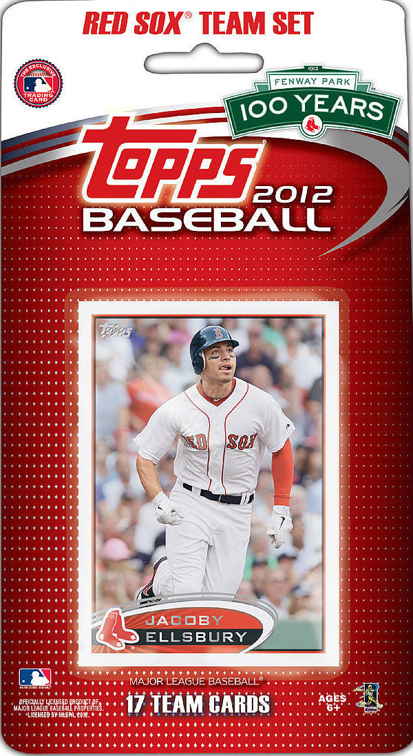 Boston Red Sox 2012 Topps Factory Sealed 17 Card Team Set
