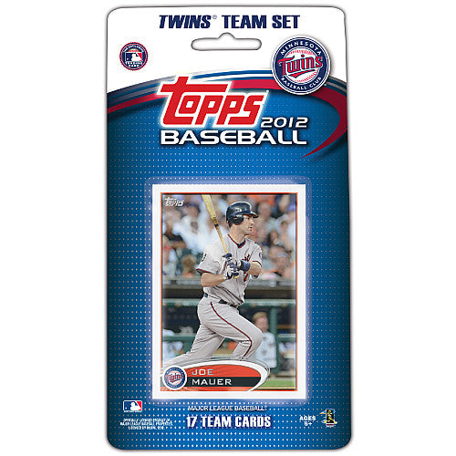 Minnesota Twins 2012 Topps Factory Sealed 17 Card Team Set