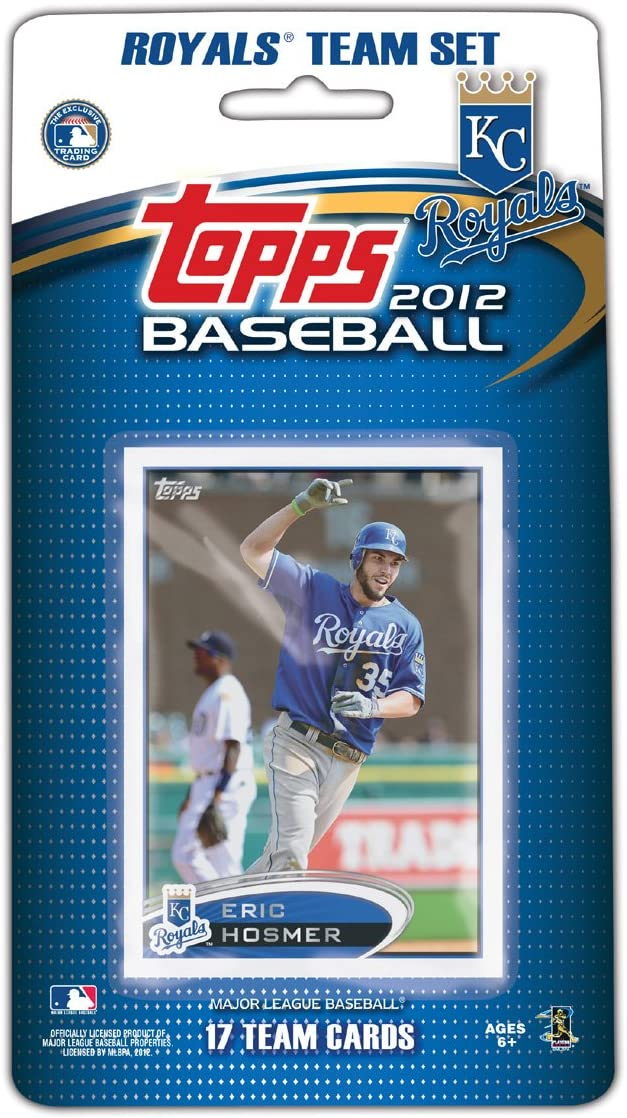 Kansas City Royals  2012 Topps Factory Sealed 17 Card Team Set