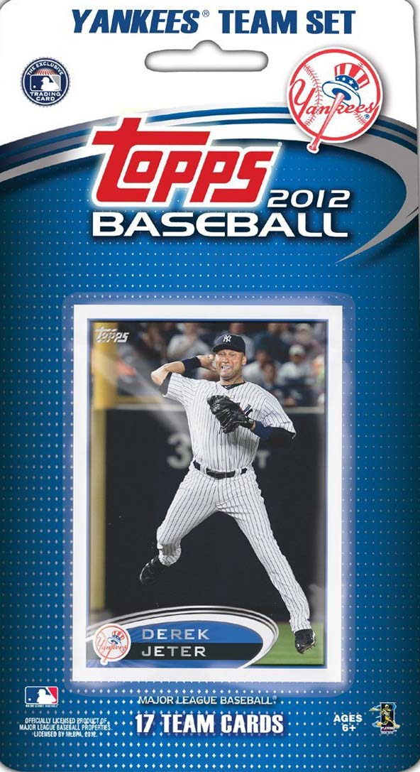 New York Yankees 2012 Topps Factory Sealed 17 Card Team Set