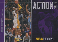 Kobe Bryant 2013 2014 Hoops Action Shots Basketball Series Mint Insert Card #12