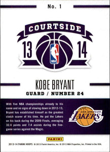 Kobe Bryant 2013 2014 Hoops Courtside Basketball Series Mint Card #1