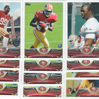 San Francisco 49ers 2013 Topps 18 Card Team Set with Colin Kaepernick and Frank Gore Plus