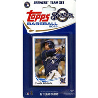 Milwaukee Brewers  2013 Topps Factory Sealed 17 Card Team Set