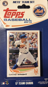 New York Mets  2013 Topps Factory Sealed 17 Card Team Set