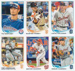 2013 Topps Traded Baseball Updates and Highlights Series Set with Christian Yelich and Gerrit Cole Rookie Cards