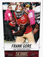 San Francisco 49ers Score Factory Sealed 3 Team Set Gift Lot 2013 2014 and 2015 with Colin Kaepernick, Frank Gore and Vernon Davis Plus
