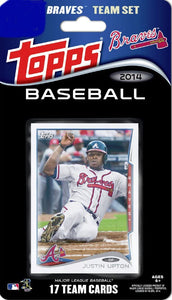 Atlanta Braves 2014 Topps Factory Sealed 17 Card Team Set