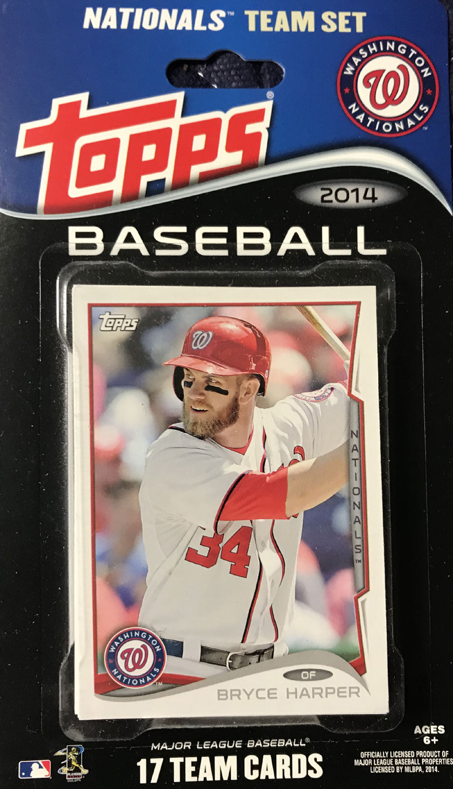 Washington Nationals 2014 Topps Factory Sealed 17 Card Team Set