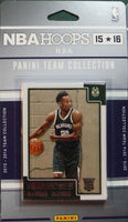 Milwaukee Bucks 2015 2016 Hoops Factory Sealed Team Set featuring Giannis Antetokounmpo 3rd Year Card
