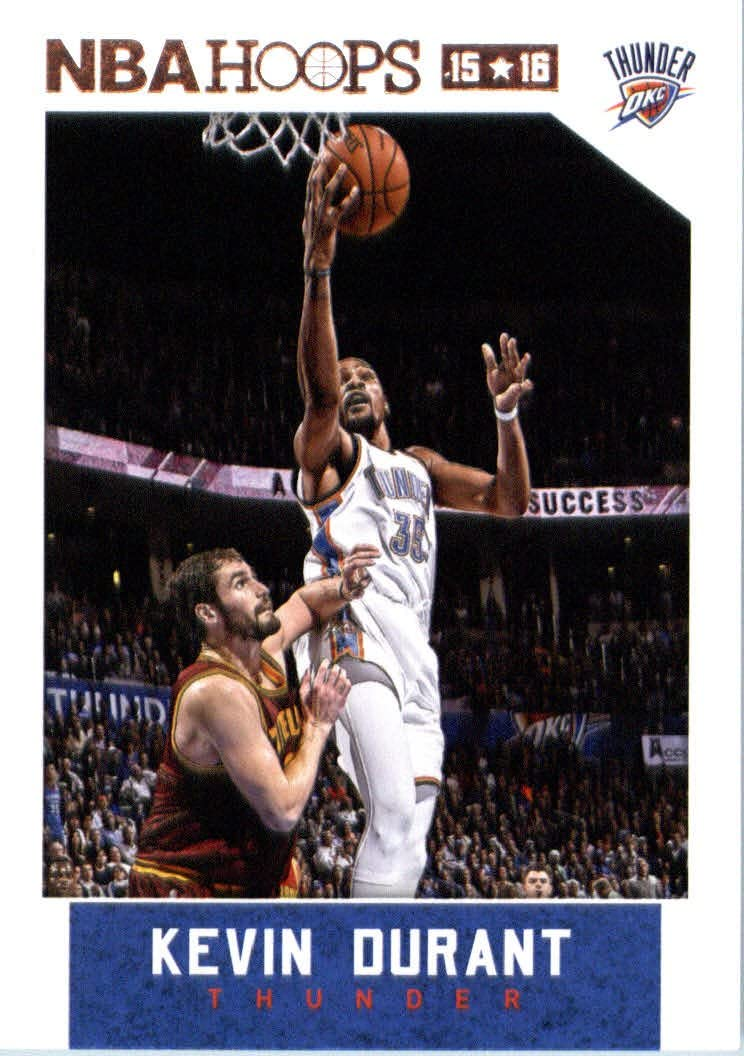 Kevin Durant 2015 2016 Hoops Basketball Series Mint Card #92