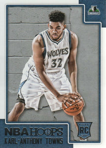 Karl-Anthony Towns 2015 2016 Hoops Mint Rookie Card #289
