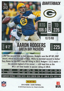 Aaron Rodgers 2015 Score Mint Card #312