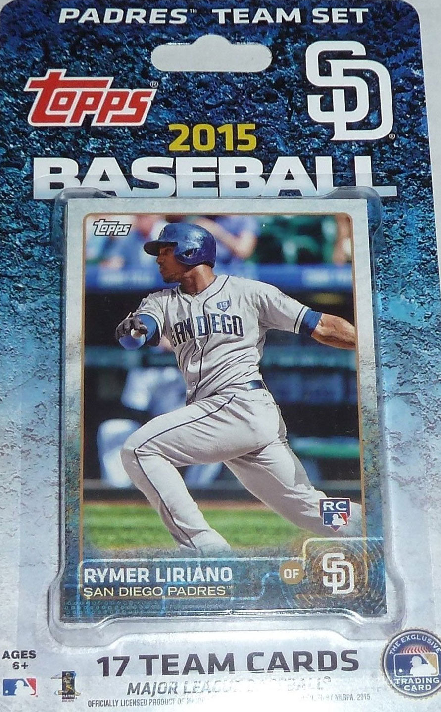 San Diego Padres  2015 Topps Factory Sealed 17 Card Team Set