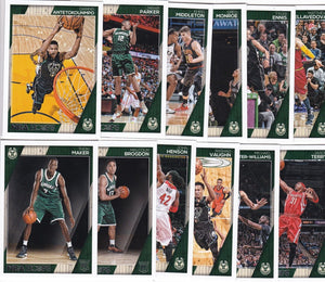 Milwaukee Bucks 2016 2017 Hoops Factory Sealed Team Set