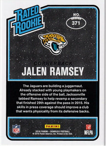 Jalen Ramsey 2016 Donruss Mint Rated Rookie Card #371