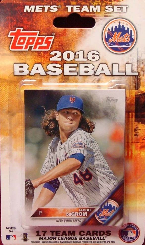 New York Mets  2016 Topps Factory Sealed 17 Card Team Set