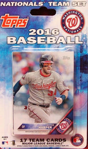 Washington Nationals 2016 Topps Factory Sealed 17 Card Team Set