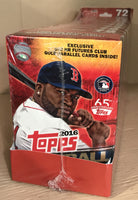 2016 Topps Baseball UPDATE Series Factory 8 Box Hanger Case