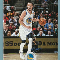 Stephen Curry 2017 2018 Hoops Blue Parallel Basketball Series Mint Card #236