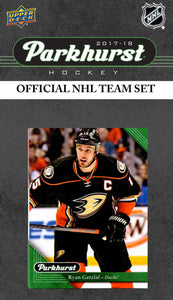 Anaheim Ducks  2017 2018 Upper Deck PARKHURST Factory Sealed Team Set