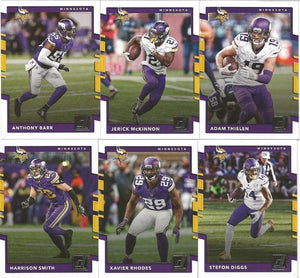 Minnesota Vikings 2017 Donruss Factory Sealed Team Set