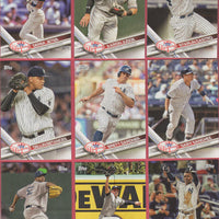 New York Yankees 2017 Topps Factory Sealed 17 Card Team Set