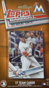 Miami Marlins  2017 Topps Factory Sealed 17 Card Team Set