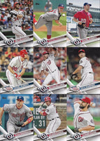 Washington Nationals 2017 Topps Complete Mint Hand Collated 27 Card Team Set with Bryce Harper and Max Scherzer Plus