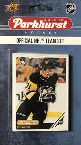 Pittsburgh Penguins  2018 / 2019 Upper Deck PARKHURST Factory Sealed Team Set