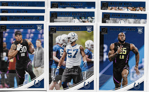 Indianapolis Colts 2018 Donruss Factory Sealed Team Set