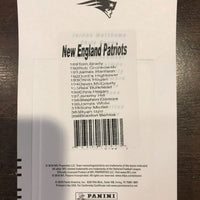 New England Patriots 2018 Panini Factory Sealed Team Set