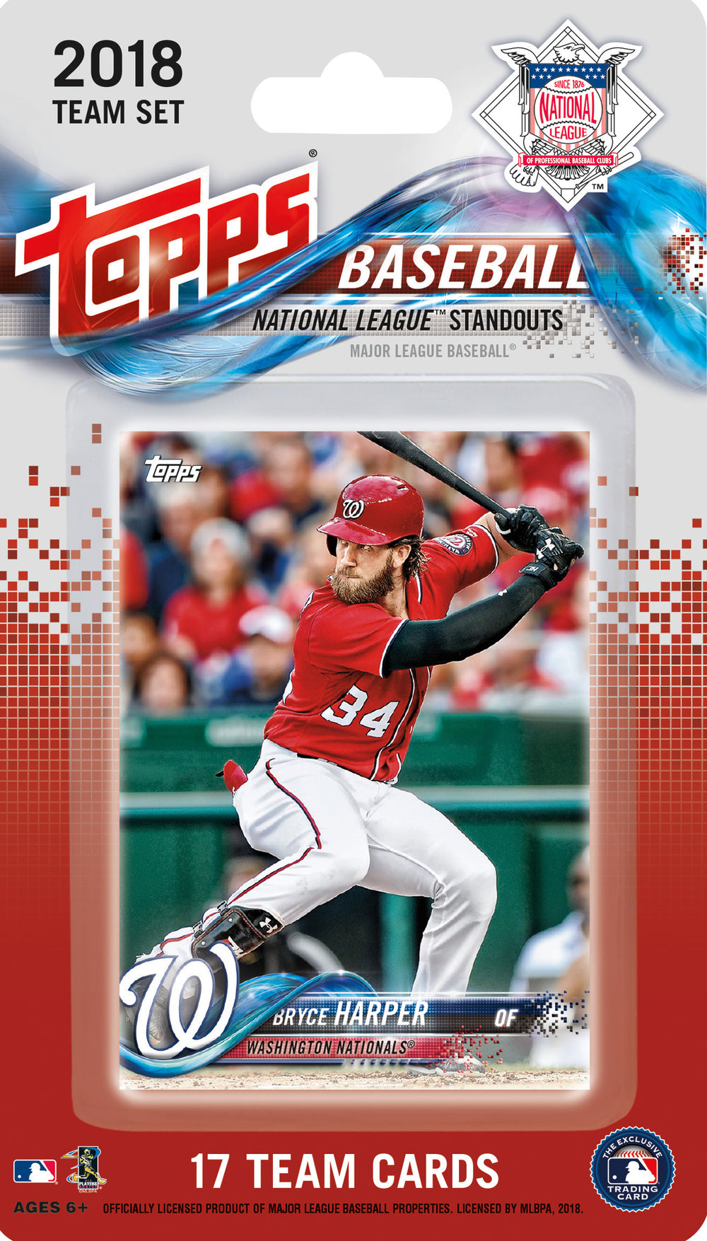 National League All Star Standouts  2018 Topps Factory Sealed 17 Card Team Set