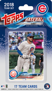 Chicago Cubs 2018 Topps Factory Sealed 17 Card Team Set
