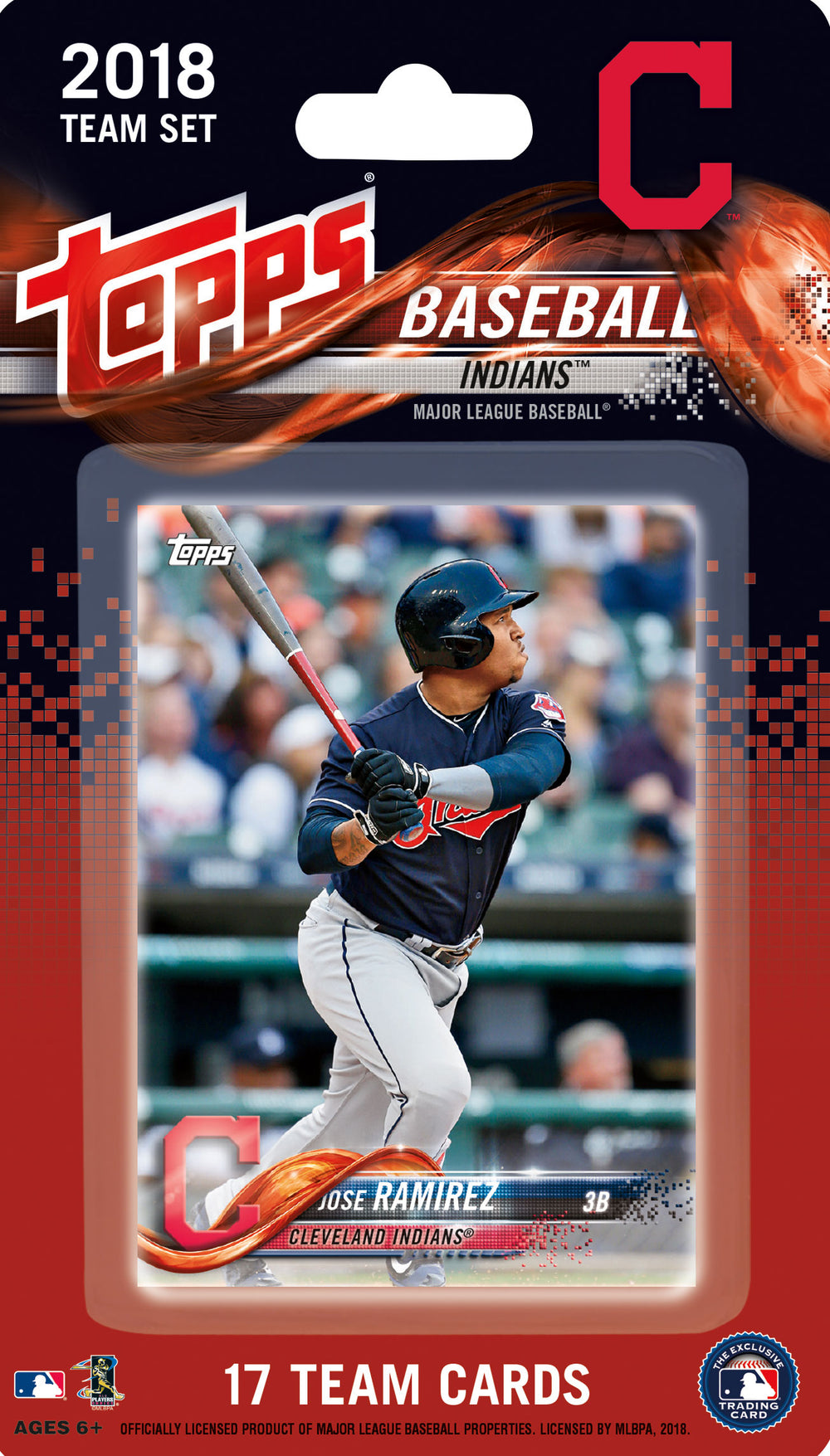Cleveland Indians 2018 Topps Factory Sealed 17 Card Team Set