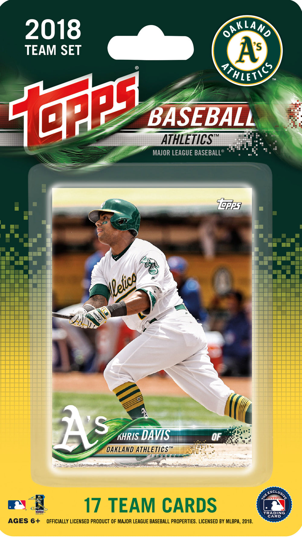 Oakland Athletics 2018 Topps Factory Sealed 17 Card Team Set