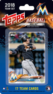 Miami Marlins  2018 Topps Factory Sealed 17 Card Team Set