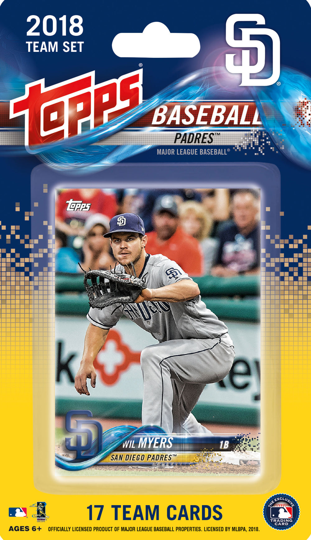 San Diego Padres  2018 Topps Factory Sealed 17 Card Team Set
