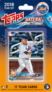New York Mets  2018 Topps Factory Sealed 17 Card Team Set