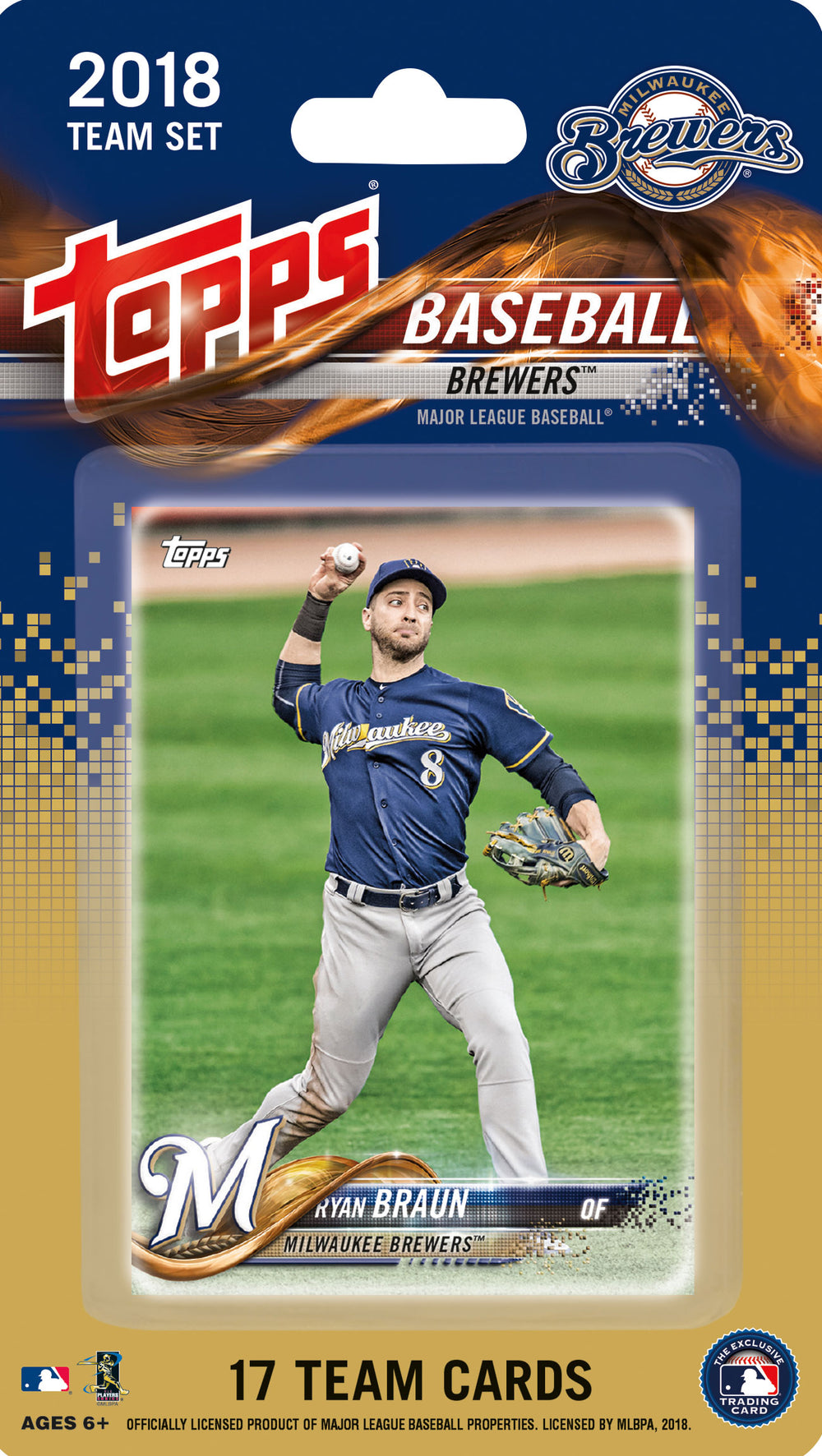 Milwaukee Brewers  2018 Topps Factory Sealed 17 Card Team Set