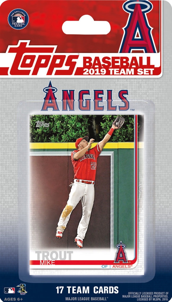 Los Angeles Angels of Anaheim 2019 Topps Factory Sealed 17 Card Team Set