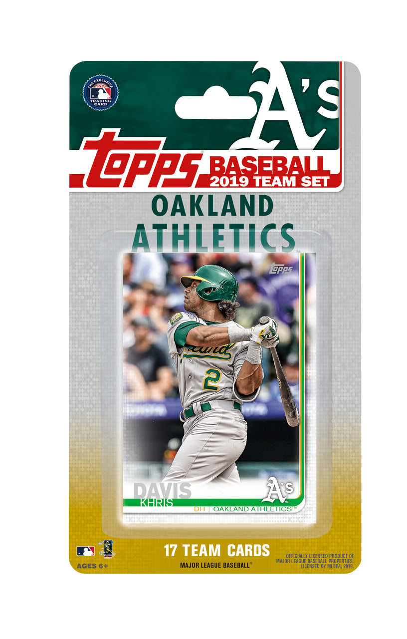 Oakland Athletics 2019 Topps Factory Sealed 17 Card Team Set