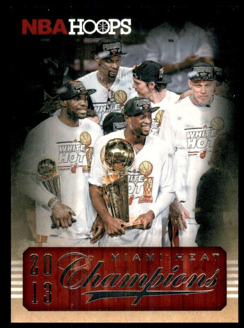 LeBron James 2013 2014 Hoops Miami Heat Champions Basketball Series Mint Card #301