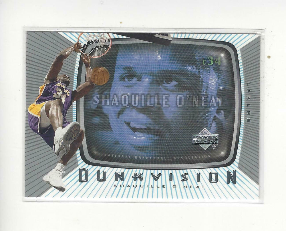 Shaquille O'Neal 2002 2003 Upper Deck Dunkvision Series Mint Card #DV5