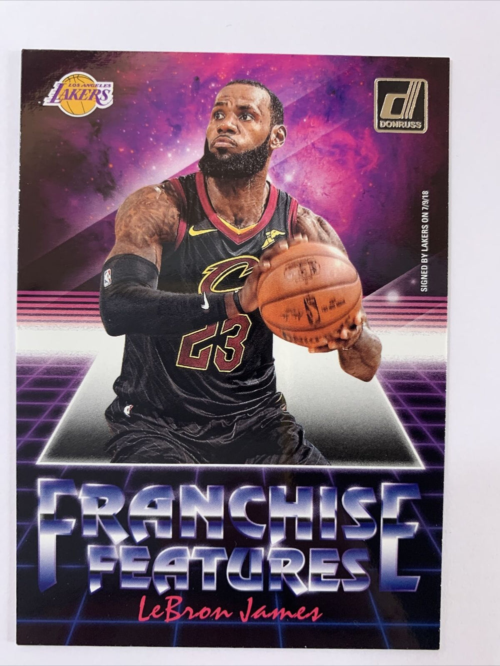 LeBron James 2018 2019 Donruss Franchise Features Series Mint Card #6