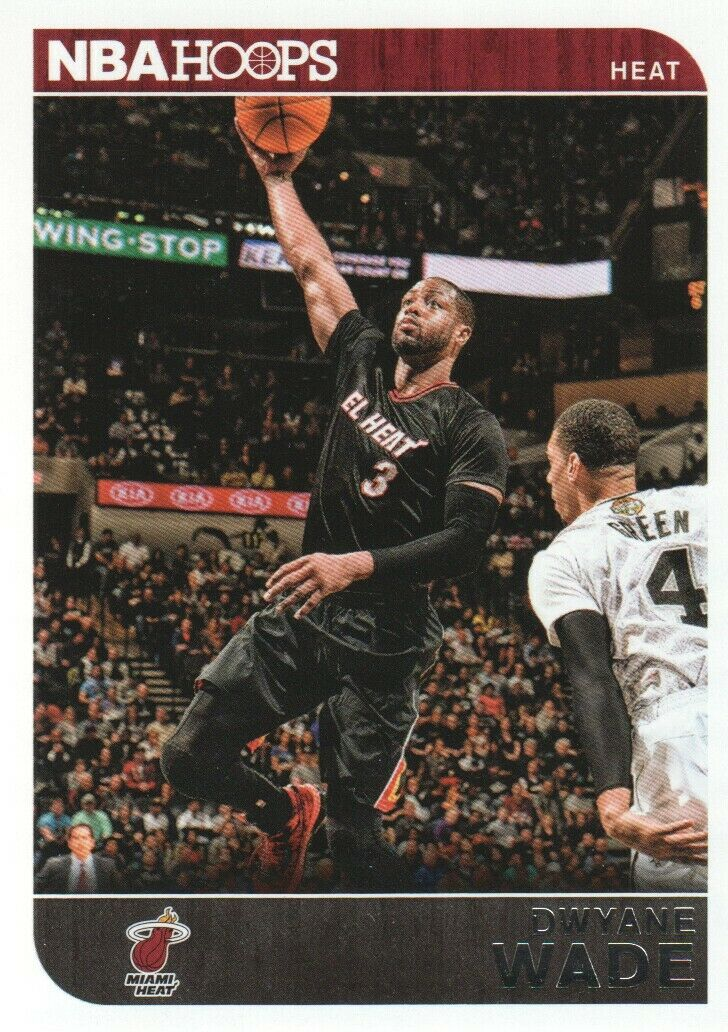 Dwyane Wade 2014 2015 NBA Hoops Series Mint Card #137