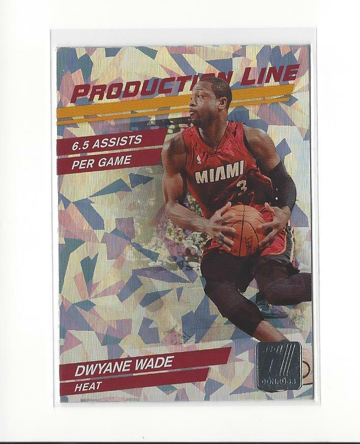 Dwyane Wade 2010 2011 Donruss Production Line Cracked Ice Series Mint Card #51